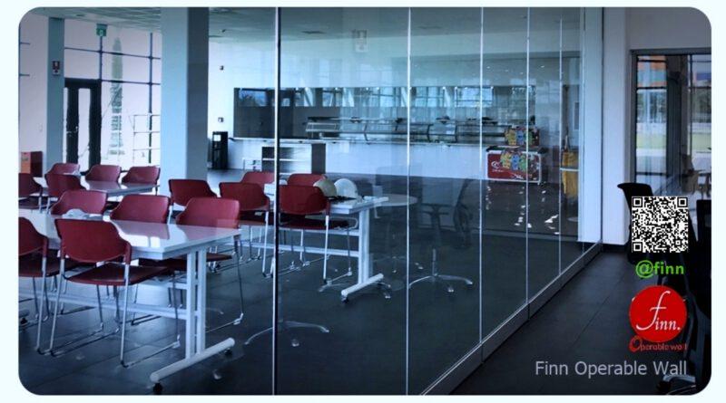 ผนังกันเสียงกั้นห้องประชุม finn ผนังกั้นห้องประชุม ที่สามารถเคลื่อนย้าย จัดเก็บได้